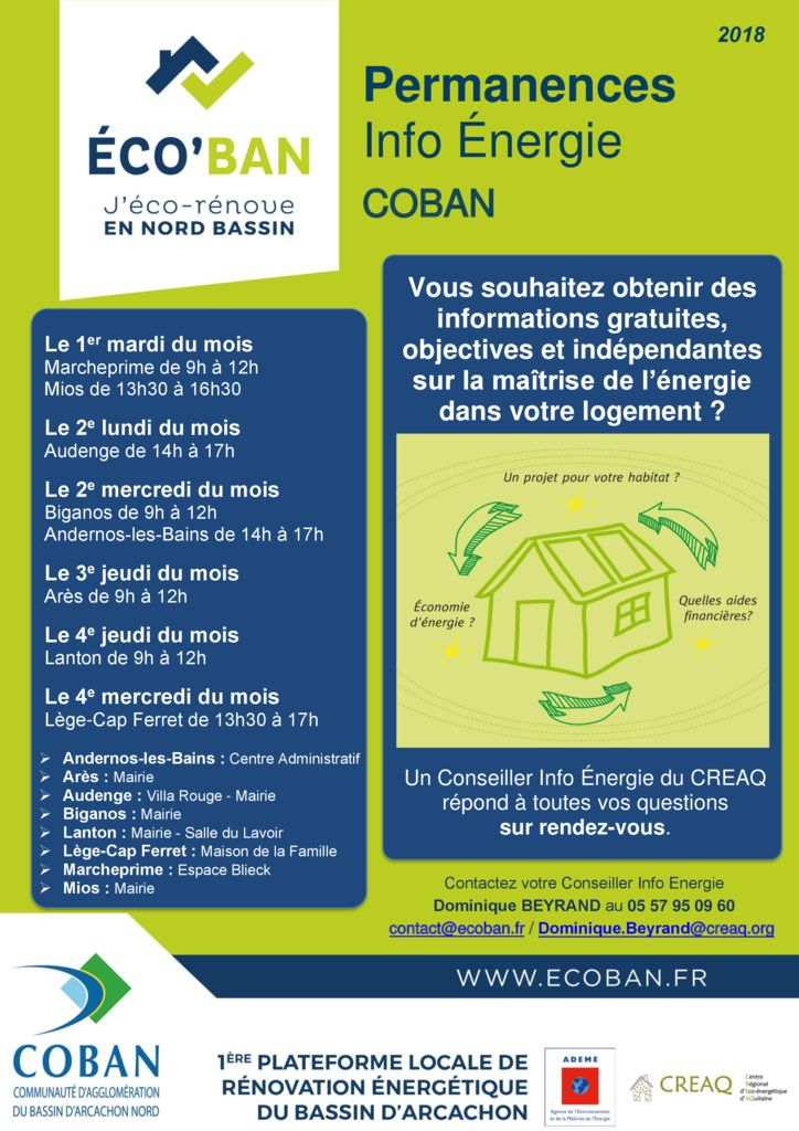 thumbnail of 1 A Permanences des 8 communes ÉCO'BAN CREAQ COBAN 2018 DB