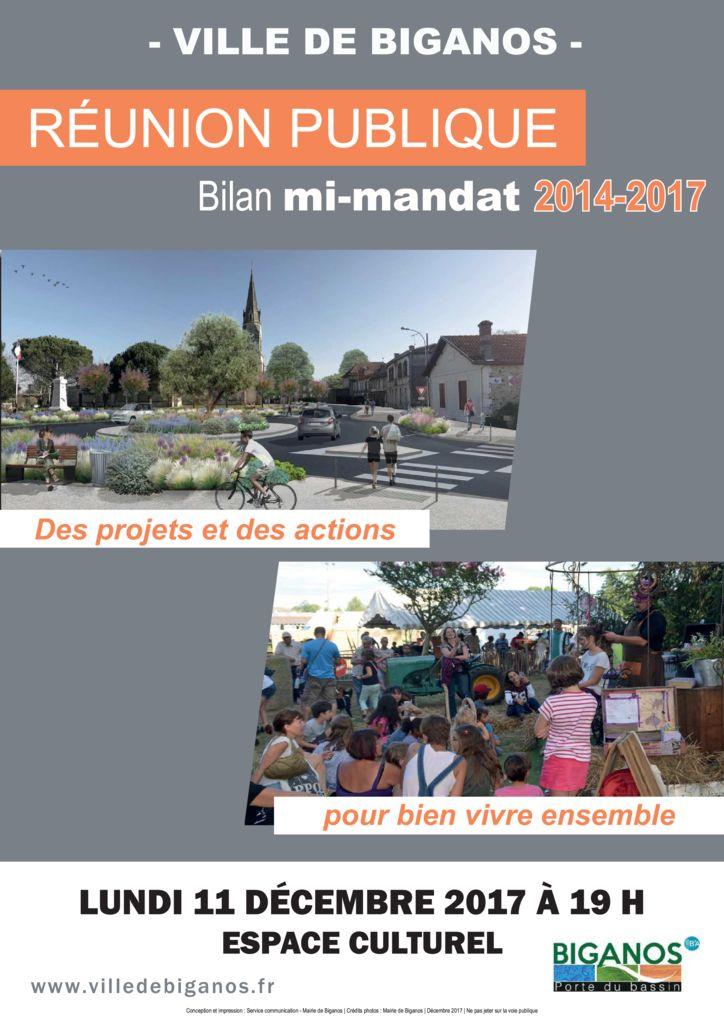 thumbnail of Affiche – Réunion publique bilan mi-mandat Biganos – 11.12.2017