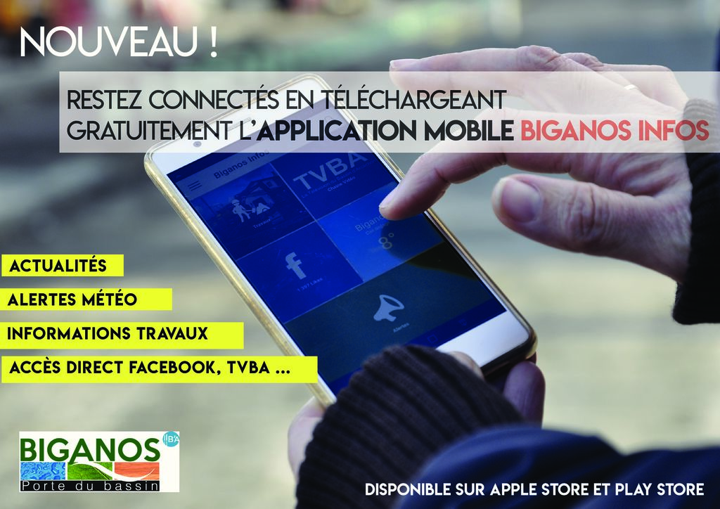thumbnail of Affiche de communication – Application Biganos Infos