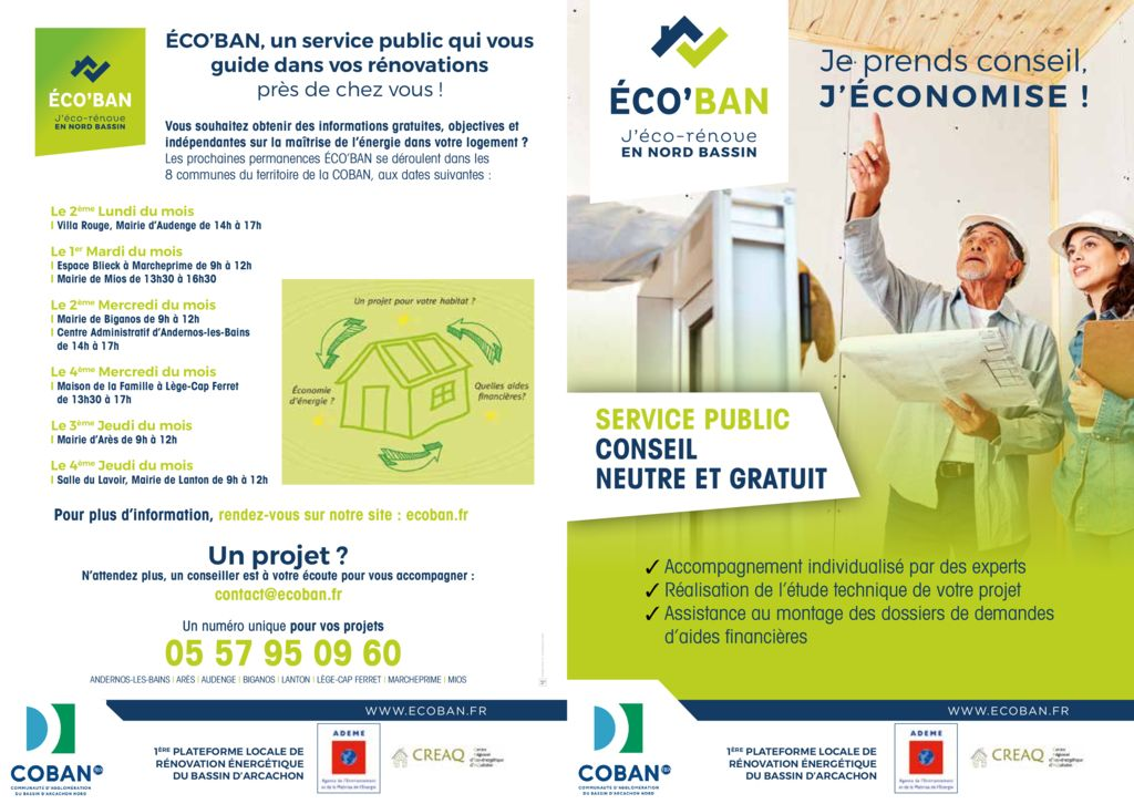 thumbnail of Dépliant A5 flyer 4 pages – Logo COBAN 2019