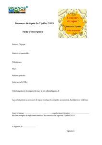 thumbnail of Fiche d'inscription au concours de tapas