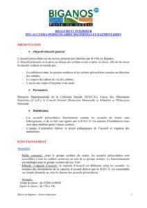 thumbnail of Règlement intérieur accueils périscolaires