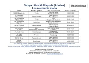 thumbnail of Planning Temps Libre Multisports 2020 2021