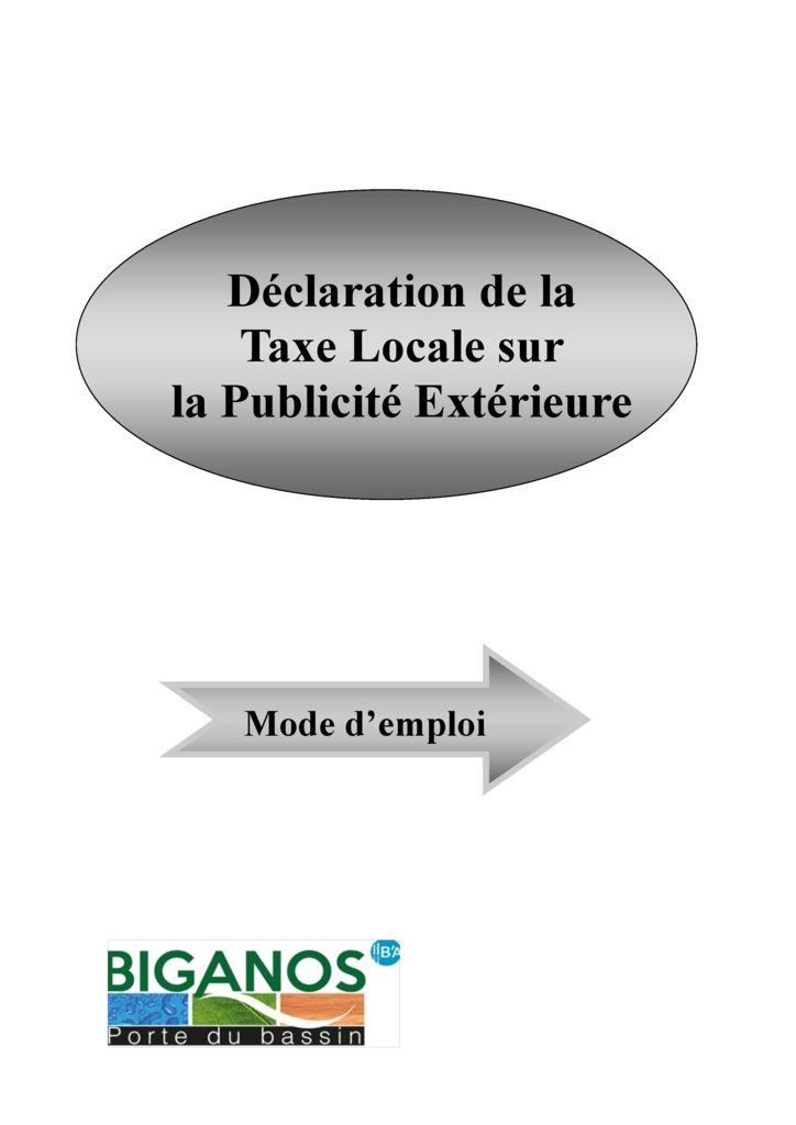 thumbnail of TLPE Mode d'emploi 2019