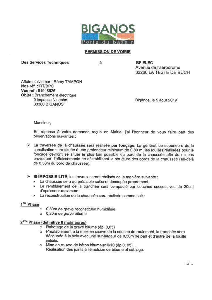 thumbnail of BF ELEC – Permission de voirie – 9 impasse nineche